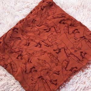 urban outfitters cooperative fox print scarf